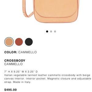 Mansur Gavriel crossbody camello handbag