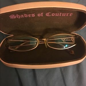Authentic pink Juicy Couture glasses w/case &cloth