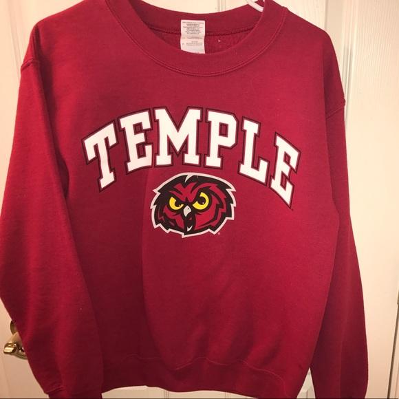 outlet store 74977 1a832 Temple University crew neck sweatshirt