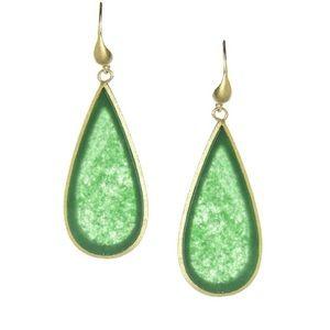 RivkaFriedman Sliced Dangle Earring GreenQuartzite