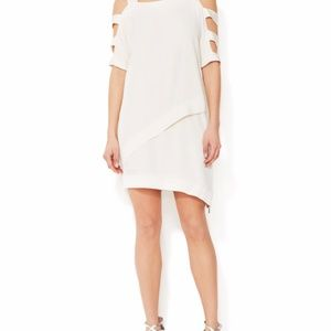 Faith Connexion Crepe Asymmetrical CutOut Dress