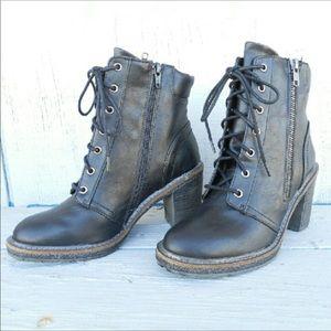 Shoes - Combat heeled bootie