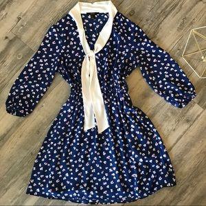 Women's Blue Floral Day Dress