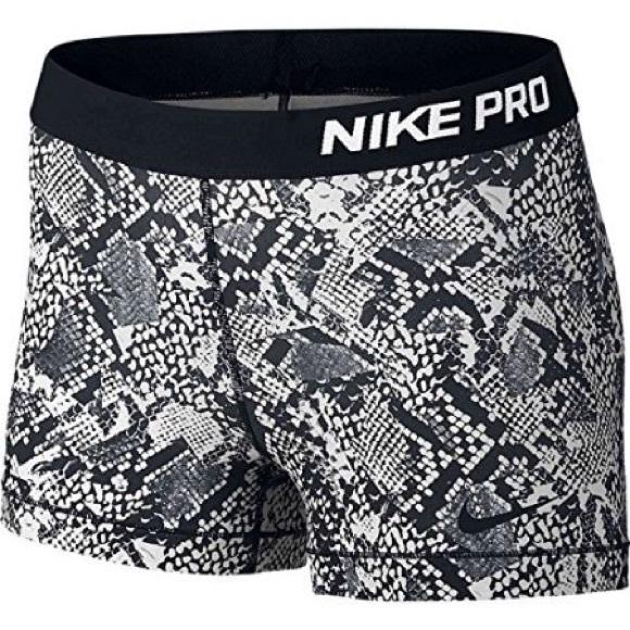 ad34736968 Nike pro shorts black & white snakeskin + VS bras.  M_59aee7374e95a391d40012d5