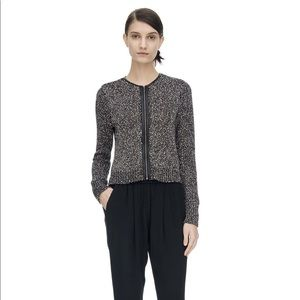 Rebecca Taylor dot knit cardigan size M