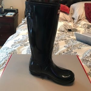 Hunter Boots Glossy Black