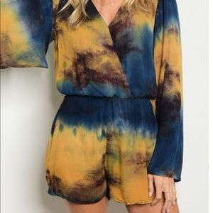 Pants - Blue and gold romper. Same as olive and blue!