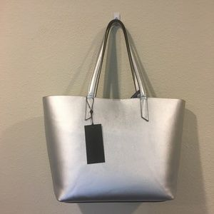 Kendall & Kylie Bags - NWT Kendall + Kylie silver tote bag