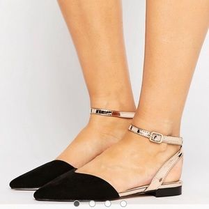 ASOS Lisbon wide fit pointed toe flat
