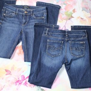 Lot of 2 WHBM Blanc Boot cut Jeans Size 0 Short