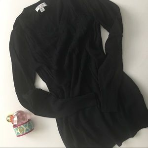 Liz Lange Maternity Black V-Neck Sweater X Small