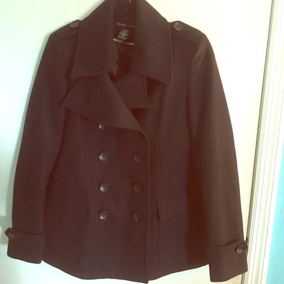 New York & Company Jackets & Blazers - BLACK WINTER PEA COAT