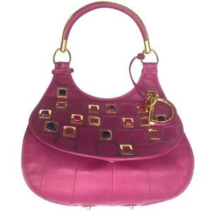 Dior Hot Pink Jeweled Bag