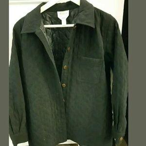 Talbots Petites Black Jacket Quilted Medium
