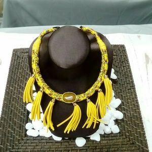 Deja Vous Jewelry - NWT Handmade Yellow Tassel Necklace