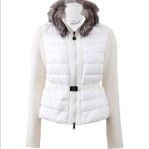 Moncler Fox Fur Cardigan Jacket Medium / Small