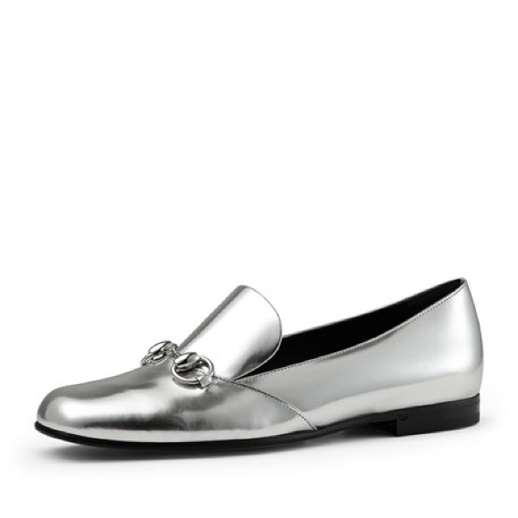 3628abbbb39 Gucci Shoes -  gucci  silver metallic horsebit loafer