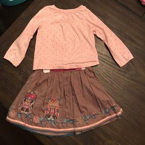 Monsoon shirt and skirt