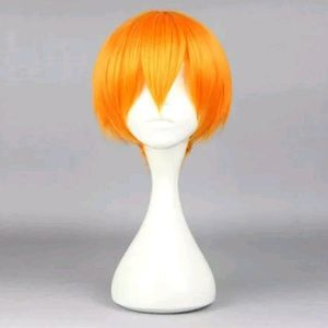 NEW Orange Anime Cosplay Wig Bleach Ichigo Costume