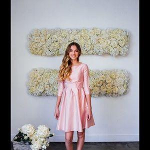 Shabby Apple Satin Pink Cocktail Dress