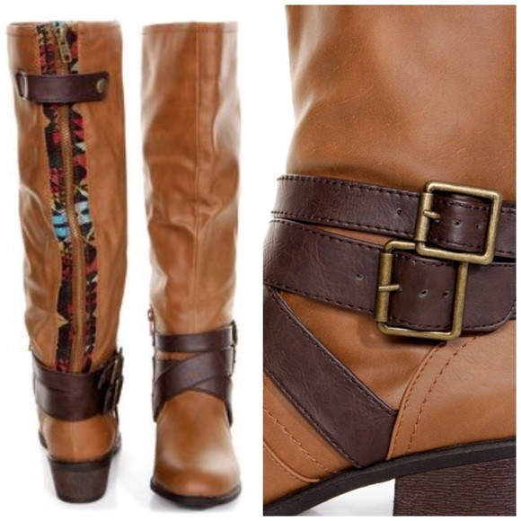 d501e353fb80 PINK   PEPPER RACER M BROWN BELTED RIDING BOOTS. M 59af0afd2de512af37009594