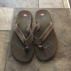Quiksilver Brown Flip Flops