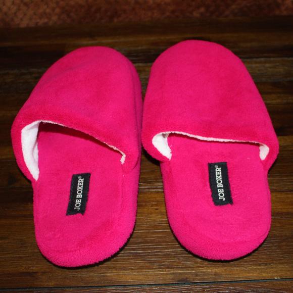 a87dcf6b2cf Joe Boxer Shoes - Joe Boxer pink slippers
