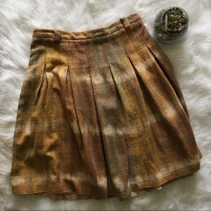 Zara Basic Tweed Circle Skirt