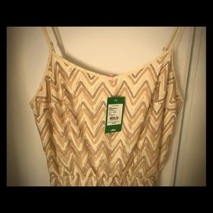 Lilly Pulitzer NWT Floor Length Gold Dress