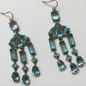 Jewelry - Blue topaz chandelier earrings