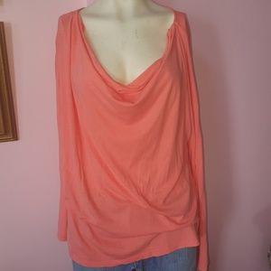 Pink Gap scoop neck long sleeve