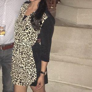 Short black/leopard dress size small.