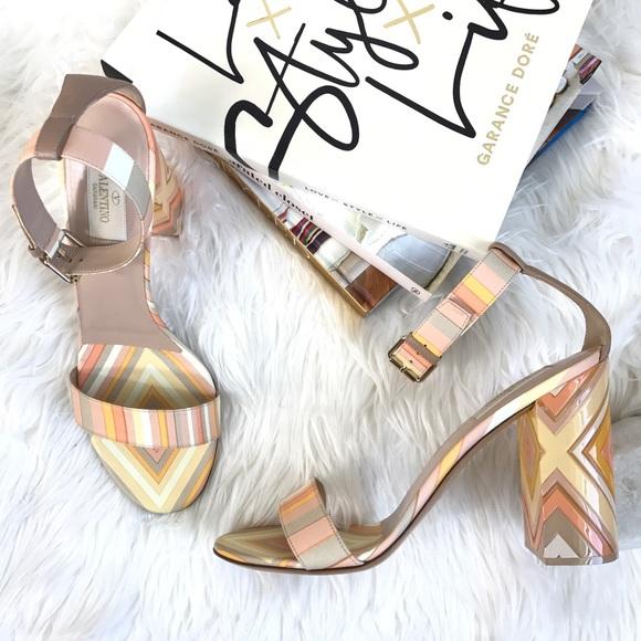 facbb7f9173 VALENTINO native couture plexiglass leather sandal