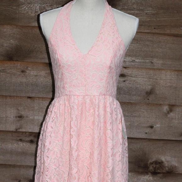 cbe160de16c Altar d State Skater Halter Lace Dress M