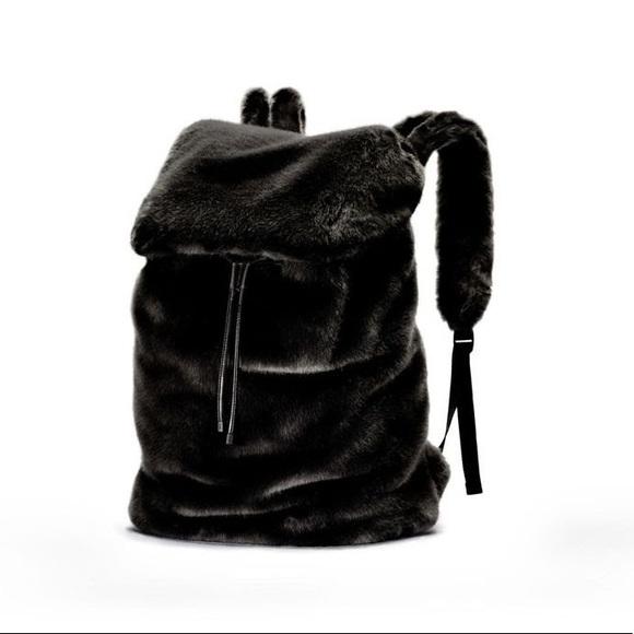 1344187fe5 Fenty Puma x Rihanna RARE faux fur backpack. M 59af19a84225be5d4a00df6d