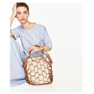 Suede & canvas bag