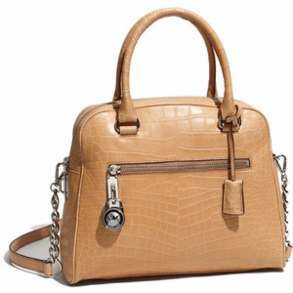 Michael Kors Handbags - Michael Kors Knox large Croc bag SALE