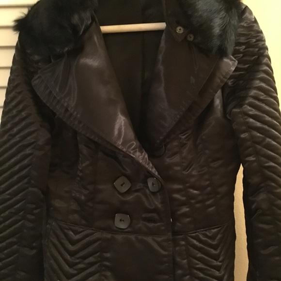 449f370c56b bebe Jackets & Coats   Womens Fur Lace Up Back Jacket   Poshmark