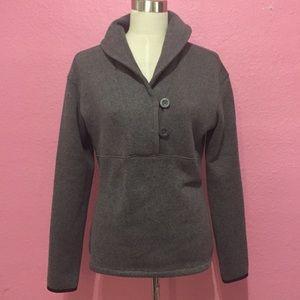 The North Face Fleece Shawl Collar Pullover GRAY
