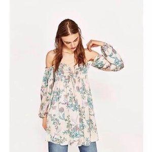 Flower Off the Shoulder Dress US 4