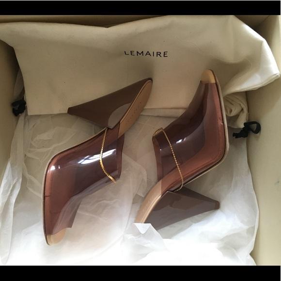 76d9e5d18d4 LEMAIRE SS17 Smoked pink pvc heels