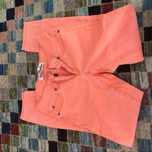 True freedom size 3 bright orange ankle jeans