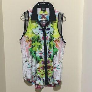 Prabal Garung for Target printed floral blouse