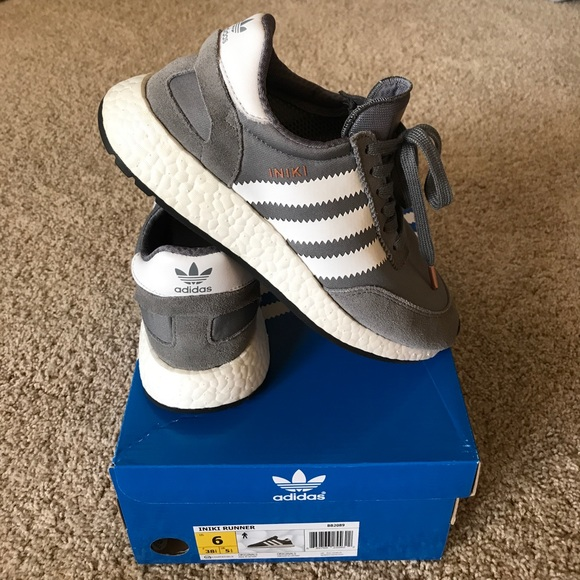 Details about Adidas INIKI Runner size 14. Black White Gum. BY9727. nmd ultra boost pk