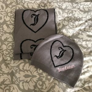 Juicy Couture Knit scarf and hat set 💕