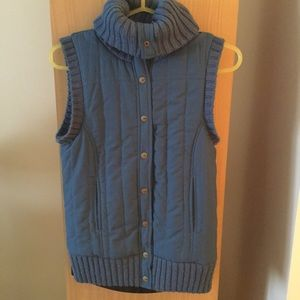 BCBGMaxazria blue turtleneck vest