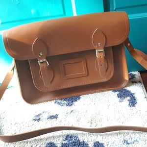 13 inch Cambridge Satchel - brown