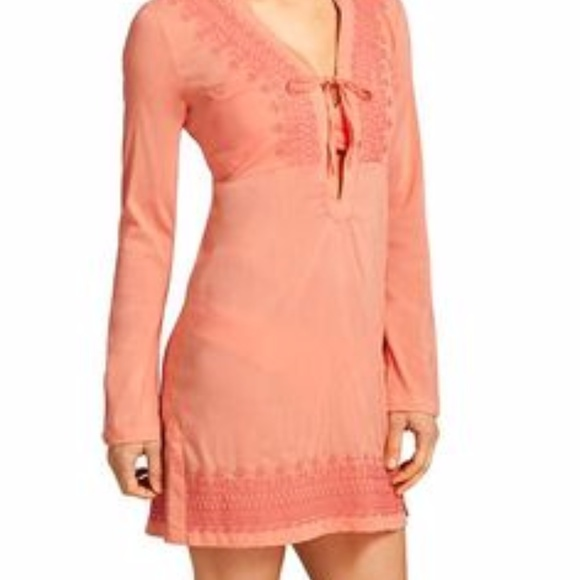 52ad2c43da5 Athleta Dresses & Skirts - Super soft, airy Athleta embroidered Kimssa Tunic