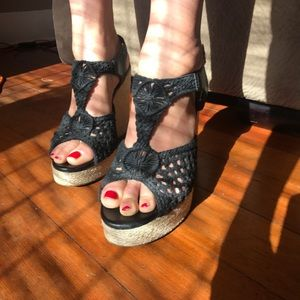 49af19ae220 Lucky Brand Shoes - Lucky Brand black crochet espadrilles Rilo wedge