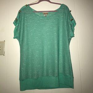 Tops - Aqua blue/turquoise shirt